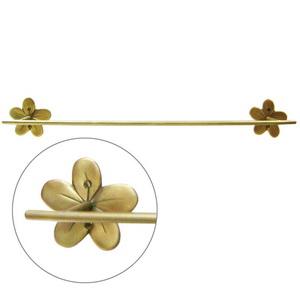 ราวแขวนผ้า ทองเหลือง 60 ซม. รูปดอกลีลาวดี